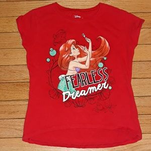 Disney Ariel The Little Mermaid Tshirt L 6X Red T